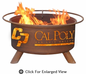 Patina Products  San Luis Obispo  Cal Poly Mustangs Fire Pit