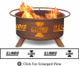 Patina Products University of Illinois Fighting Illini Fire Pit