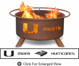 Patina Products University of Miami Hurricanes Fire Pit