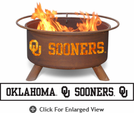 Patina Products University of Oklahoma Sooners Fire Pit