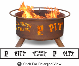 Patina Products University of Pittsburgh Panthers Fire Pit