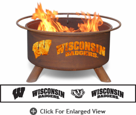 Patina Products University of Wisconsin Badgers Fire Pit