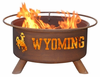 Patina Products University of Wyoming  Cowboys Fire Pit