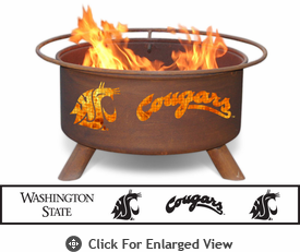 Patina Products Washington State Cougars Fire Pit