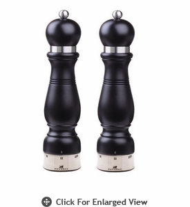 "Peugeot 12.25"" Chateauneuf u'Select Black Matte Salt & Pepper Mill"