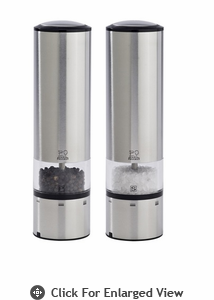 Peugeot Elis Sense Stainless Steel Electric Salt & Pepper Mill Set