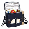 Picnic at Ascot  Blue Wine and Cheese Cooler  with Blanket  for Two