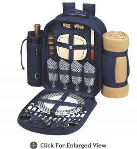 Picnic at Ascot  Bold Backpack  W/Blanket for Four