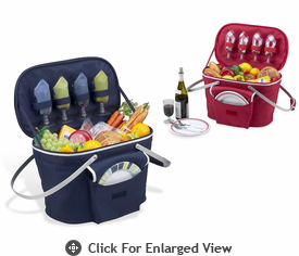 Picnic at Ascot Bold Collection Collapsible Insulated Picnic Basket