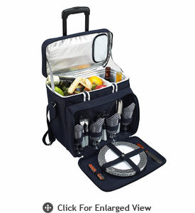 Picnic at Ascot  Bold Cooler with Removable  Wheeled Cart for Four