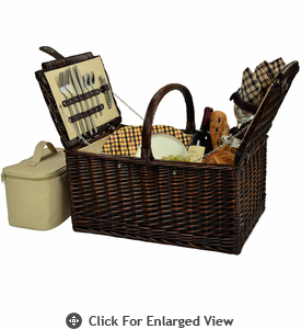 Picnic at Ascot Buckingham Picnic Basket for 4 London Plaid