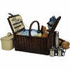 Picnic at Ascot Buckingham Picnic Basket for 4  w/ Coffee Service & Blanket