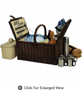 Picnic at Ascot  Buckingham Picnic Basket  with Blanket and Coffee Set  for Four