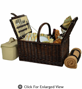 Picnic at Ascot  Buckingham Picnic Basket  with Blanket for Four