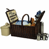 Picnic at Ascot  Buckingham Picnic Basket  With Coffee Set for Four