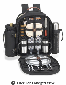 Picnic at Ascot Classic Coffee Picnic Backpack for Two