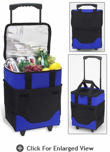 Picnic at Ascot Classic Collection  Collapsible Rolling Cooler – 32 Can