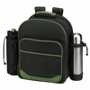 Picnic at Ascot Deluxe Equipped 2 Person Coffee Picnic Backpack ECO - Forest Green