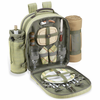 Picnic at Ascot Deluxe Equipped Picnic Backpack for 2 w/ Blanket Hamptons