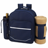 Picnic at Ascot Deluxe Equipped Picnic Backpack for 2 w/ Blanket Navy Blue