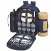Picnic at Ascot Deluxe Equipped Picnic Backpack for 4 w/ Blanket  Navy Blue