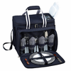 Picnic at Ascot Deluxe Picnic Cooler for 4 Navy Blue