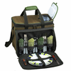 Picnic at Ascot Eco Deluxe Picnic Cooler for 4 Forest Green