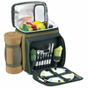 Picnic at Ascot Eco Picnic Cooler for 2 w/ Blanket Forest Green