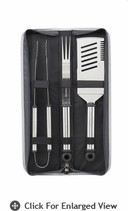 Picnic at Ascot  Gourmet Sliver Barbecue  Tool Set-3 PC With Case
