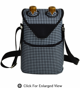 Picnic at Ascot  Houndstooth Pattern  Double Bottle Carrier