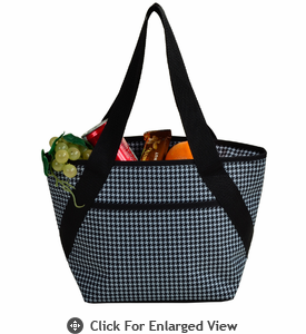 Picnic at Ascot  Houndstooth Pattern  Lunch Cooler