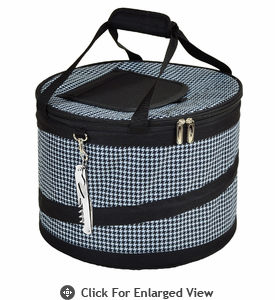 Picnic at Ascot  Houndstooth Pattern Pop-Up Party Cooler