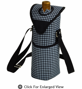 Picnic at Ascot  Houndstooth Pattern  Single Bottle Carrier
