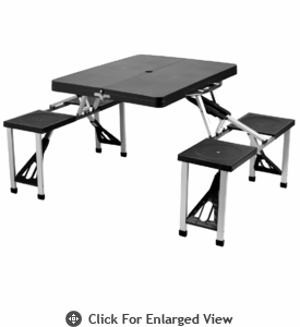 Picnic at Ascot  Portable Plastic  Picnic Table Black
