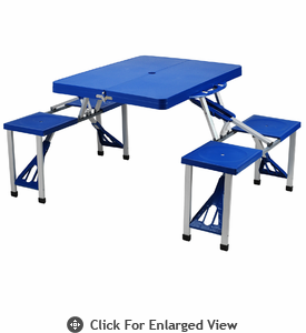 Picnic at Ascot  Portable Plastic  Picnic Table Blue