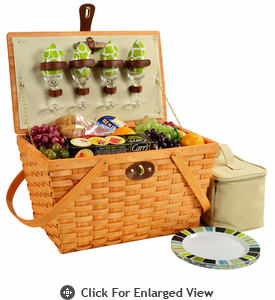 Picnic at Ascot Settler American Style Picnic Baskets for 4