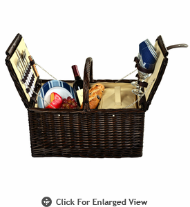 Picnic at Ascot Surrey Picnic Basket for 2 Aegean Stripe