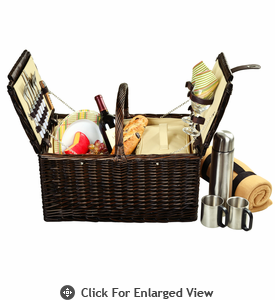 Picnic at Ascot Surrey Picnic Basket for 2 Coffee Set w/ Blanket  Hamptons