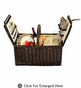 Picnic at Ascot Surrey Picnic Basket for 2 London Plaid