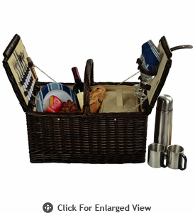 Picnic at Ascot Surrey Picnic Basket for 2 w/ Coffee Service