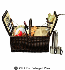 Picnic at Ascot Surrey Picnic Basket for 2 w/ Coffee Service Hamptons