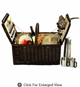 Picnic at Ascot Surrey Picnic Basket for 2 w/ Coffee Service London Plaid