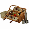 Picnic at Ascot Sussex Picnic Basket for 2 w/ Coffee Service
