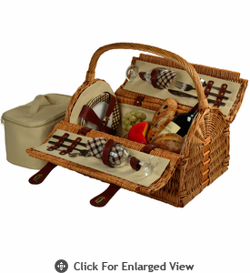 Picnic at Ascot  Sussex Picnic Basket  for Two