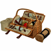 Picnic at Ascot  Sussex Picnic Basket  With Blanket  for Two