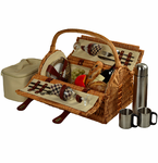 Picnic at Ascot  Sussex Picnic Basket   With Coffee Set   For Two