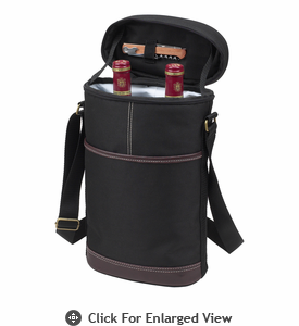 Picnic at Ascot Travel Two Bottle Wine Tote Black