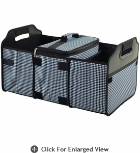Picnic at Ascot  Trunk Organizer  and Cooler Houndstooth