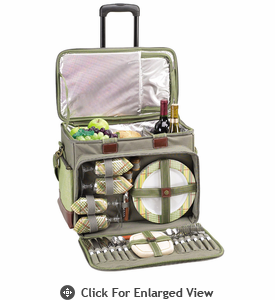 Picnic at Ascot Ultimate Picnic Cooler for 4 on Wheels