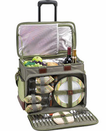 Picnic at Ascot Ultimate Picnic Cooler for 4 on Wheels Hamptons